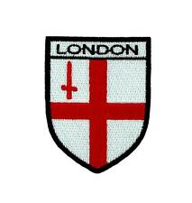 Flag patch iron / sew badge backpack london uk england shield coat of arms