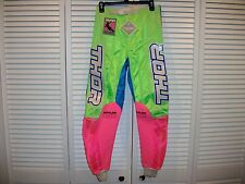 VINTAGE NOS THOR RACING  MX MOTOCROSS PANTS SIZE 32 HOT PINK / GREEN / BLUE