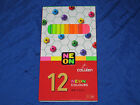 COLLEEN 12 Colors box of 12 NEON Coloured Pencils - No 775N -