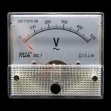 AC 500V Analog Panel Volt Voltage Meter Voltmeter Gauge 85L1 0-500V AC White