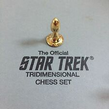 Franklin Mint Star Trek 3D Chess - Gold-Plated Pawn