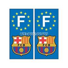 2 pegatinas de adhesivos placa matrícula coche Fc Barcelona placa FC Barcelona