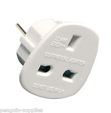 UK PLUG TO CONTINENTAL TRAVEL ADAPTOR LG9168