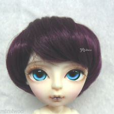 "Mimi Collection Gretel MSD Hujoo Bjd Heat Resistant 7-8"" Shaggy Wig Wine Red"