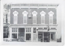 1950s SNAPSHOT PHOTO WEST UNION WV MASONIC HALL & DRUG STORE BUILDING