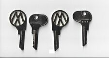 VW Oval Bug Beetle Split Van Bus key blank reproduction ignition switch 2 keys