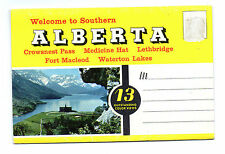 Welcome to Southern Alberta Canada Souvenir Postcard Folder 1950s
