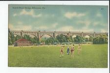 Eigth Street Bridge, Boys at  Play Allentown Pennsylvania  Postcard