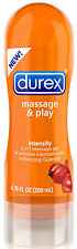 Durex Massage & Play INTENSIFY 6.76oz - 2 in 1 Gel and Intimate Lubricant