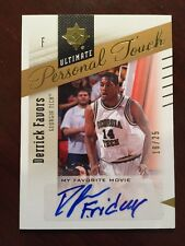 Derrick Favors 2010/11 Ultimate Collection Personal Touch Movie Auto BV$80