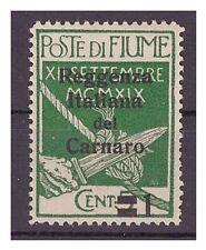 FIUME 1920  -  REGGENZA DEL CARNARO  Cent. 1 su 5  nuovo **
