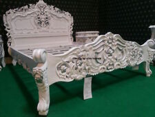 White with Silver details Chatelet® Bed French baroque rococo oriental style