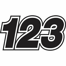 3 x Custom Race Numbers Stickers Vinyl Dirt Bike Motocross Trials Decals