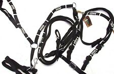 D.A. Brand Pony Size Black Nylon Bridle Set w/Breast Collar and Rawhide Accents