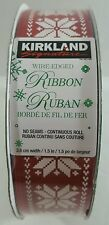 Kirkland wire edge ribbon Red and White