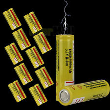 20pcs Ultra Fire 18650 3.7V 5000mAH Lithium Rechargeable Battery Yellow US