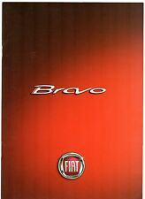 Fiat Bravo 2008-09 UK Market Specification Brochure Active Dynamic Sport