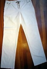 SEXY LOOPS BY ROBERT IN'T VELD WHITE PANTS JEANS, SIZE 10, MADE IN ITALY