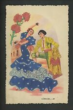 Embroidered clothing postcard Artist Gumier, Spain, Cordoba woman matador #29
