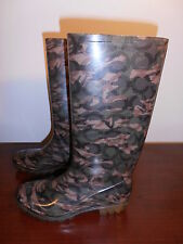 Coach camouflage olive green rain boots size 5. EXCELLENT CONDITION