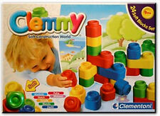 NEW Clementoni Clemmy World Soft Construction Blocks For Kids - Set of 24 blocks