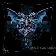 *DRAGON DUO* Gothic Cross Fantasy Art Cushion By Anne Stokes