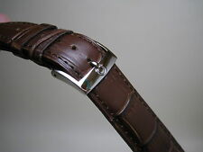 OMEGA 20MM BROWN LEATHER BAND STAINLESS STEEL SMALL LOGO BUCKLE