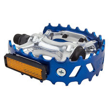 "OLD SCHOOL BMX VP 747 BEAR TRAP PAIR OF PEDALS 1/2"" BLUE for 1pc cranks"