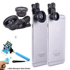 3in1 Fisheye Ultra Lens Camera Kit Bluetooth Remote Selfie Stick For Smartphone
