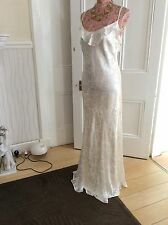 "monsoon Poppy ivory silk long length 58"" size 14-16 bnwt Rrp £135 Holiday 14.9"