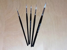 major brushes sable round tip synthetic  x 4 + 1 free paint brush artist