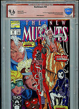 New Mutants #98 Marvel VSP CBCS 9.6 NM+ Red Label Signed Rob Liefeld 1991
