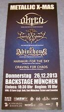 Metallic X-Mas / Under The Black Moon - Munich Germany - Promotion Flyer 2013