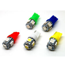 10 Pcs T10 5050 W5W 5 SMD 194 168 LED YELLOW Car Side Wedge Tail Light Lamp Bulb