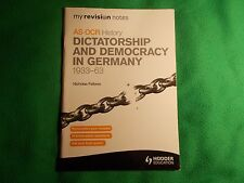 OCR AS History Dictatorship and Democracy in Germany 1933-63 by Nicholas Fellows