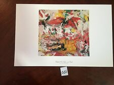 Untitled(Red,Yellow,Green) by Wille De Kooning11x17 Vintage Artwork Repro Print