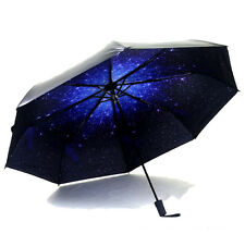 New ABS Umbrella Windproof Starry Anti Sun/Rain Mini Parasol Folding Creative
