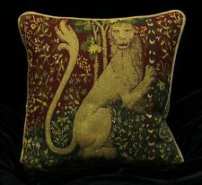 DECORATIVE PILLOW COVER Medieval Tapestry Throw Cushion LARGE LION Sofa Scatter