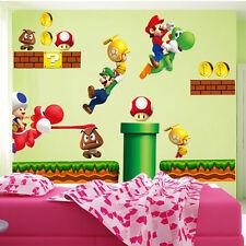 Super Mario Bros Vinilo Mural Adhesivos De Pared Pegatina