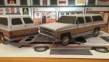 Papercraft 1991 Chevrolet Suburban 2 tone colors PaperCar EZU-build ToyModelCar