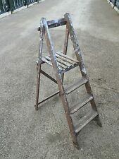 VINTAGE WOODEN STEP LADDERS  shabby chic decorative garden plants Shop Display