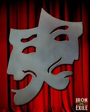 Comedy Tragedy Theater Masks Metal Happy Sad Wall Art Room Decor Movie Director