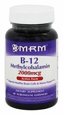 MRM Vitamin B12 Methylcobalamin 2000mcg with Folic Acid 60 Sublingual Lozenges