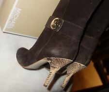 Michael Kors Caroline Boot Brown Suede Size 9 NEW