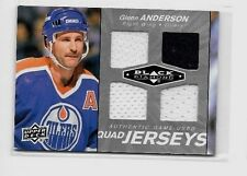 GLENN ANDERSON 2010-11UD  BLACK DIAMOND QUAD GAME USED 2 COLOR JERSEYS