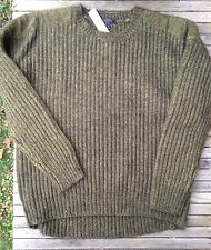 NEW Jcrew Wool Mohair Sweater Pullover Marled S Green Fitted Nwt Knit Top $98