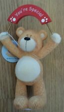 """VALENTINE/LOVE PODGY BEAR WITH BANNER SAYING """"YOU'RE SPECIAL""""  ORNAMENT"""