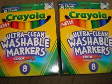 CRAYOLA ULTRA CLEAN WASHABLE MARKERS CLASSIC COLORS BROAD LINE LOT OF 2