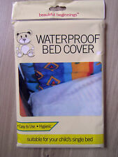 CHILDS WATERPROOF SINGLE BED COVER SHEET BABY COT BED WHITE MATTRESS PROTECTOR