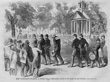 CIVIL WAR CAMP PUNISHMENTS, DRUMMING A COWARD OUT OF THE RANKS, ARMY OF POTOMAC